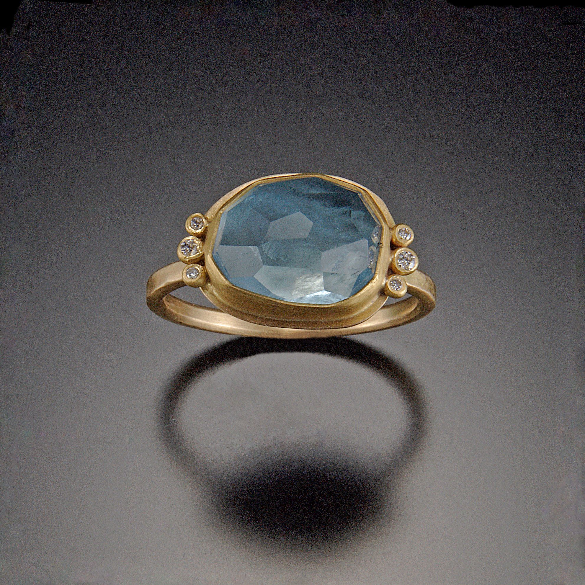 rose jewelry diamonds pin six aquamarine cut rings khalsa with ring ananda