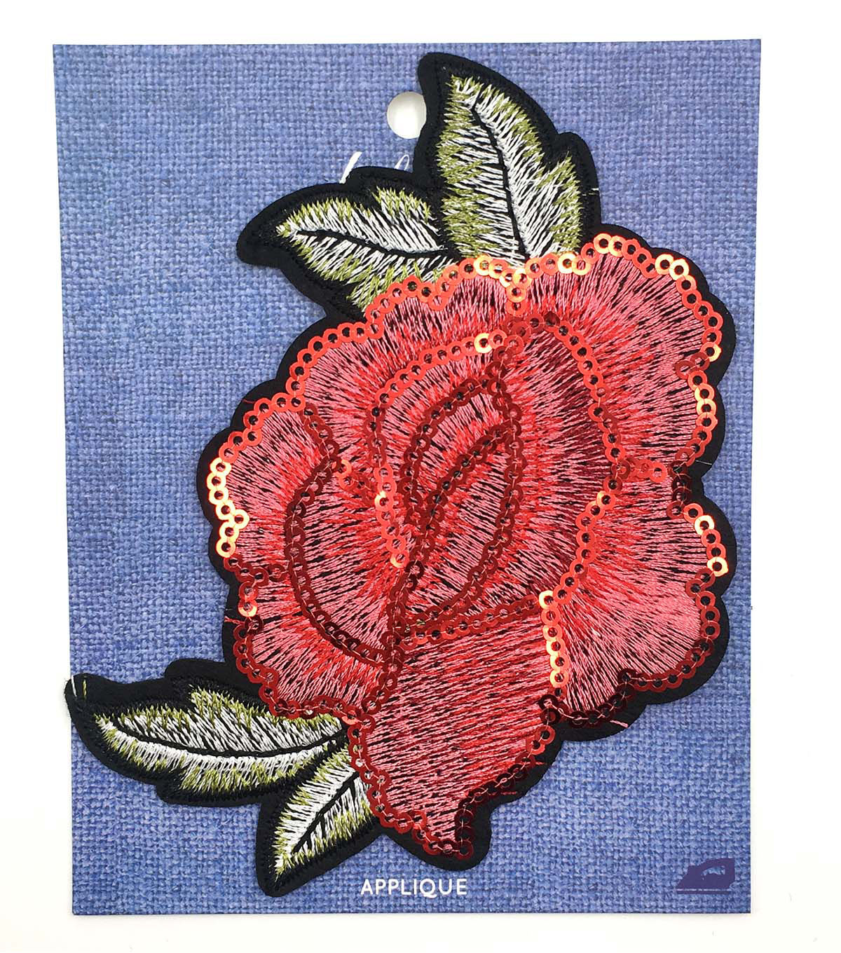 Fab Lab Sequined Rose Iron-on Applique in 2019 | jcrew