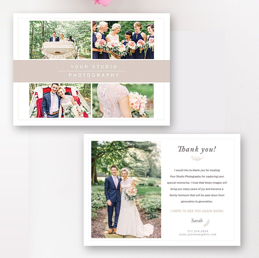 Photography Thank You Card Template Photography Marketing