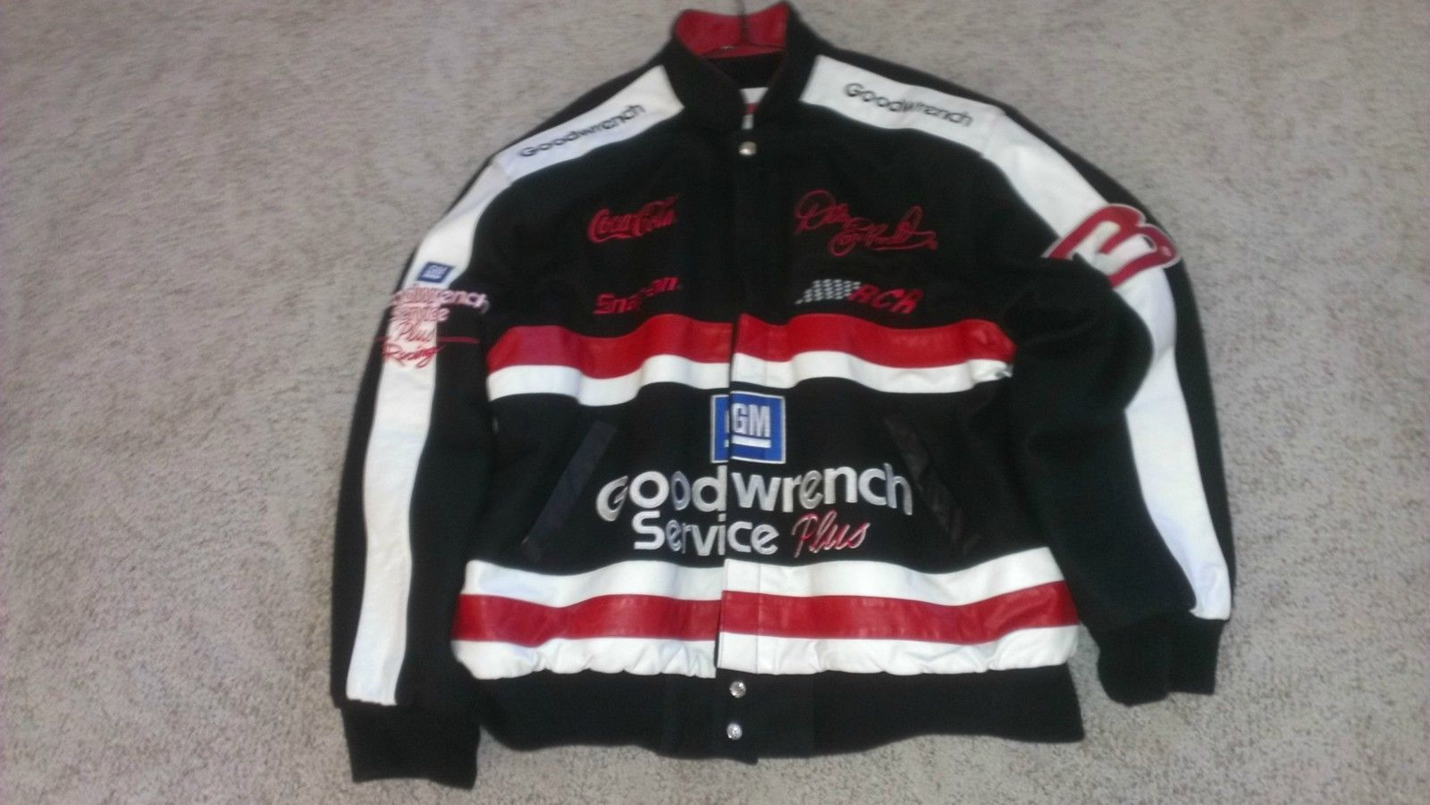 Womens Dale Earnhardt and Jr Number 3 and 88 NASCAR Racing Jacket