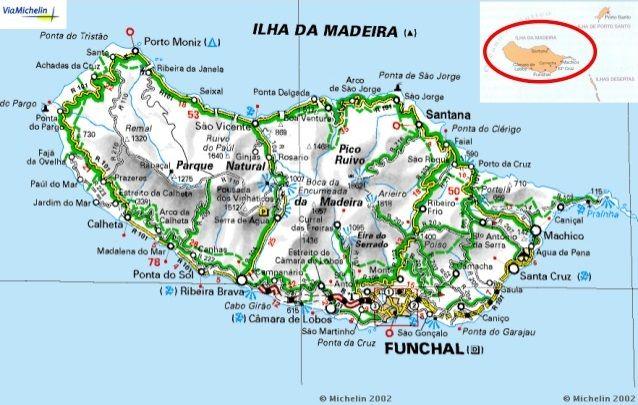 Mapa Da Ilha Da Madeira Madeira Ilha Mapa Turistico