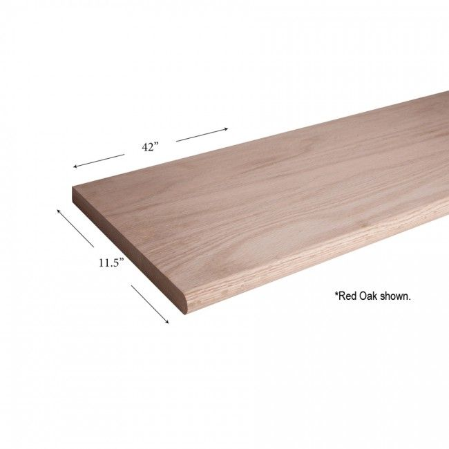 Best 11 1 2 X 42 Red Oak Bull Nose Tread Wood Staircase 640 x 480