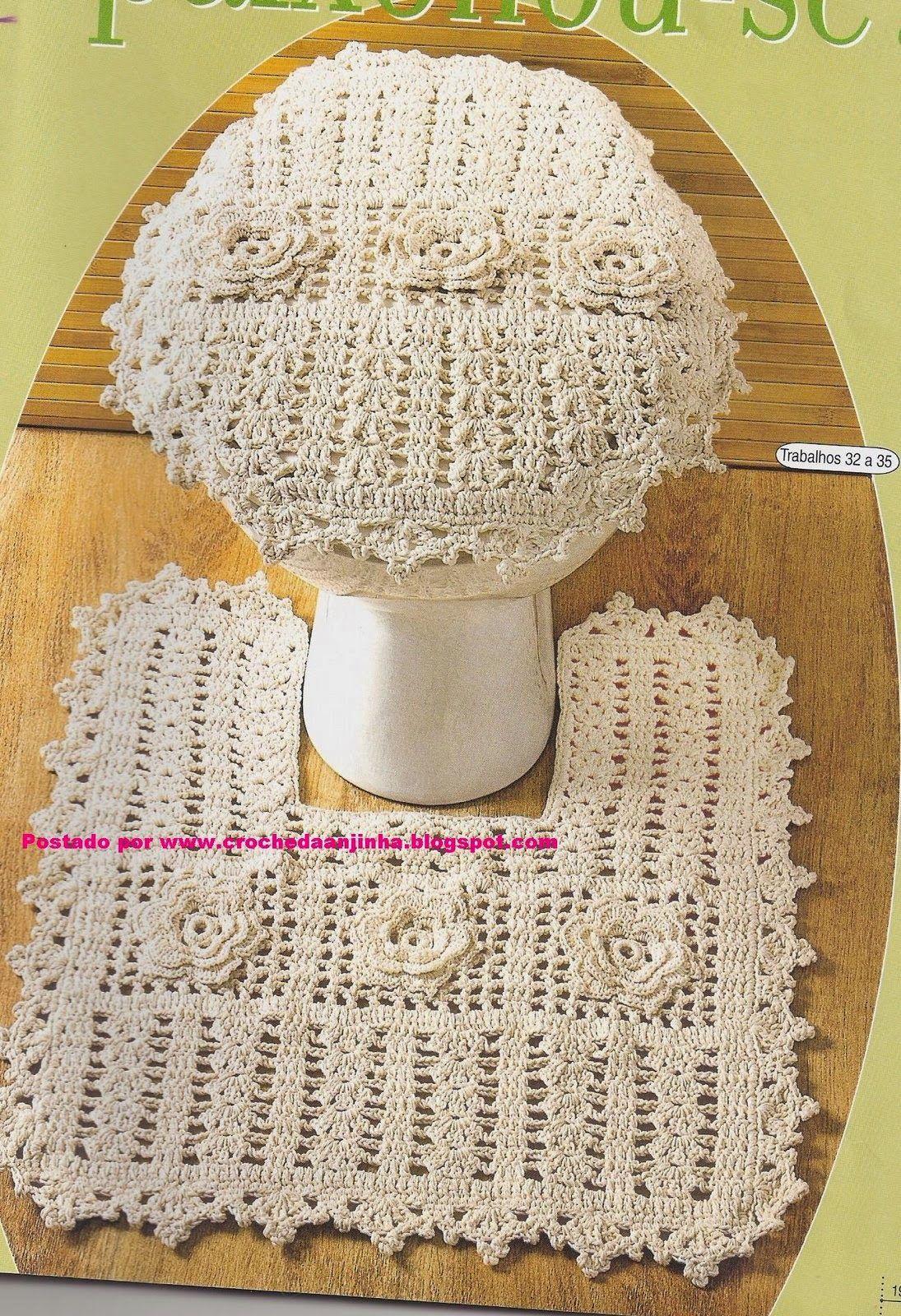 Rose Ragazzon Croche Jogo De Banheiro Quadrado Cru Flores E Leques Jogos De Banheiro Jogos De Banheiro Croche Jogo Banheiro Croche Grafico