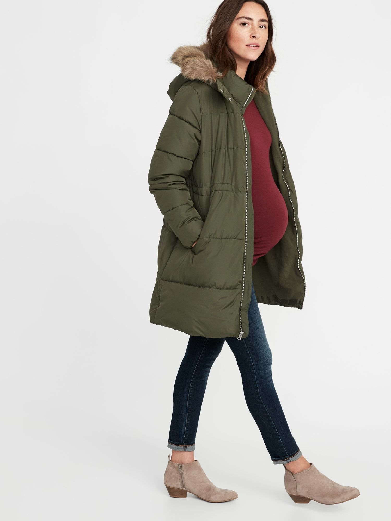 d9d520f9c908c product Old Navy Maternity, Puffer Jackets, Winter Jackets, Fur Trim, Military  Jacket