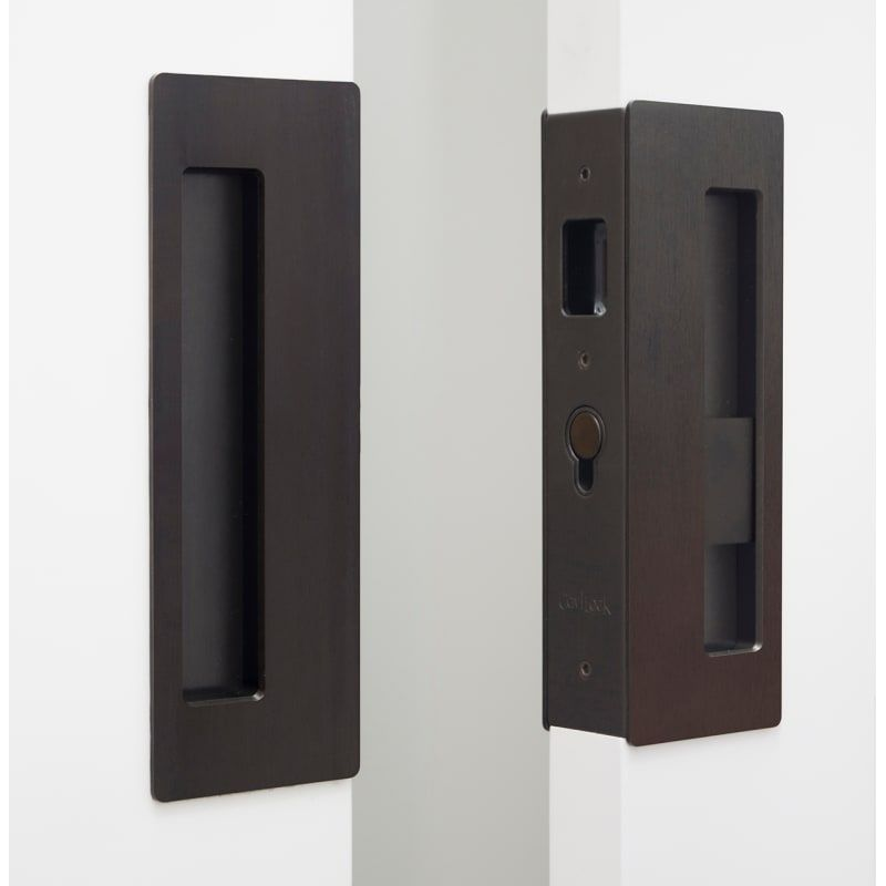 Cavilock Cl400d0243 Oil Rubbed Bronze Magnetic Latching Privacy Double Door Pocket Door Set For 1 3 4 Inch Door Thickness In 2020 Pocket Doors Pocket Door Lock Double Pocket Door