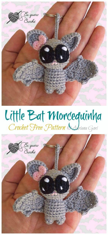 Amigurumi Little Bat Crochet Free Pattern #freepattern