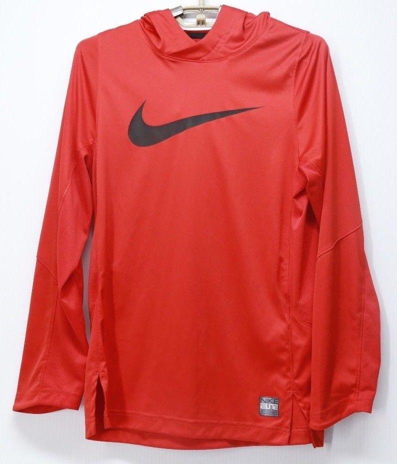 5d2af6b6d09c Boy s Kid s Nike Elite Lightweight Athletic Hoodie Red Large  Nike  Hoodie   Everyday