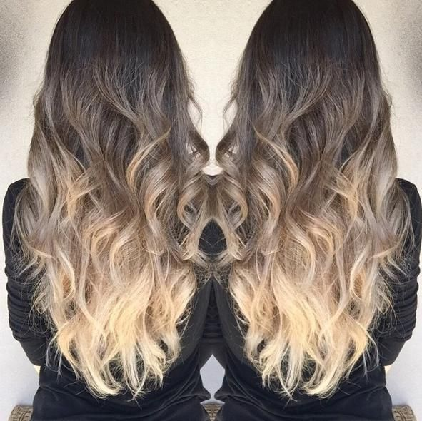 Summer Ombre Ash Brown To Ivory Balayage Hairstyles For Long Hair