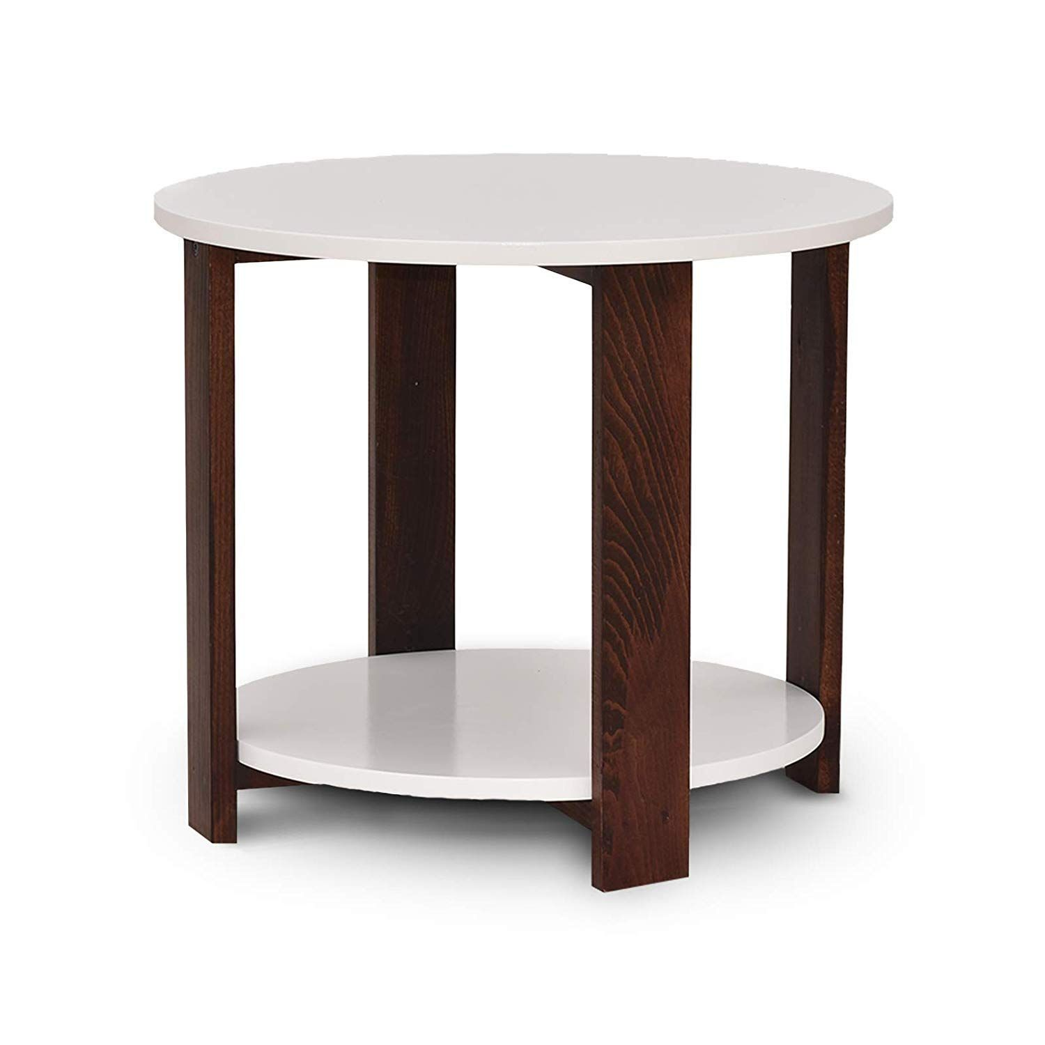 Decornation Juno Modern Round Side Table Mdf End Table With