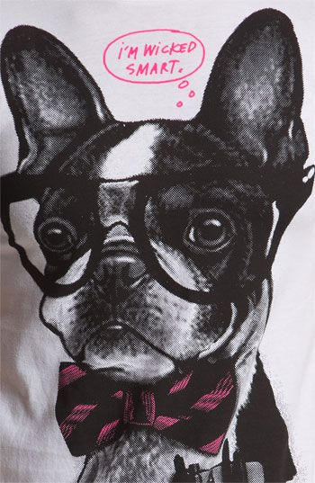 "[Boston Terrier Item Of The Day] Ames Bros. ""Wicked Smart"" T-Shirt"