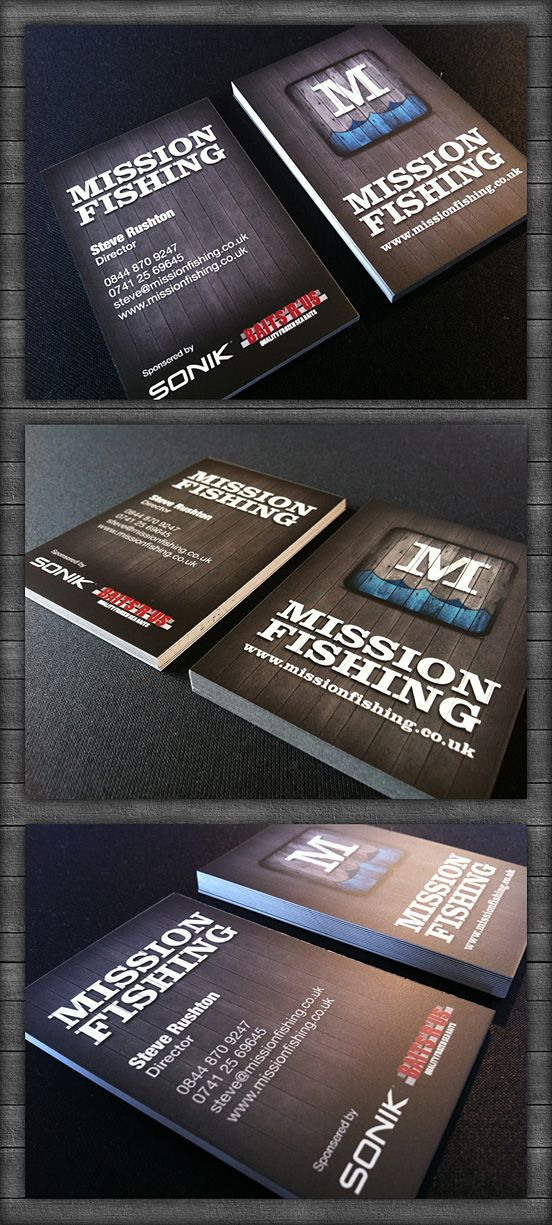 Mission Fishing Business Cards | business | Pinterest | Business ...