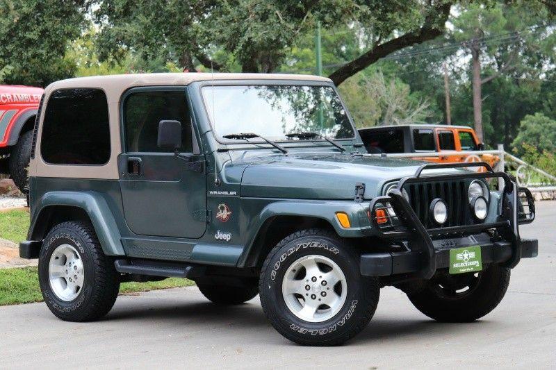 2002 Green Jeep Wrangler Sahara 16995 Sahara Wranglers