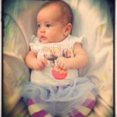 In her 1st tutu