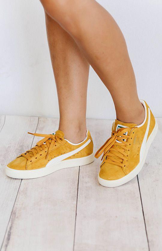Puma Clyde Premium Core Sneakers Artisan GoldWhisper