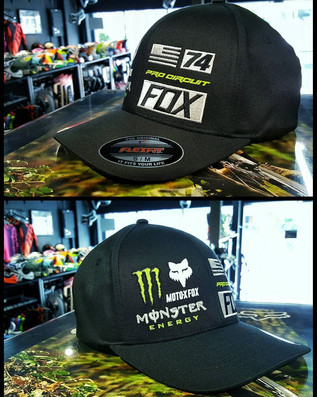 8b2f4978c New Arrival! FOX MONSTER UNION FLEXFIT HAT Fox Monster Energy collab ...