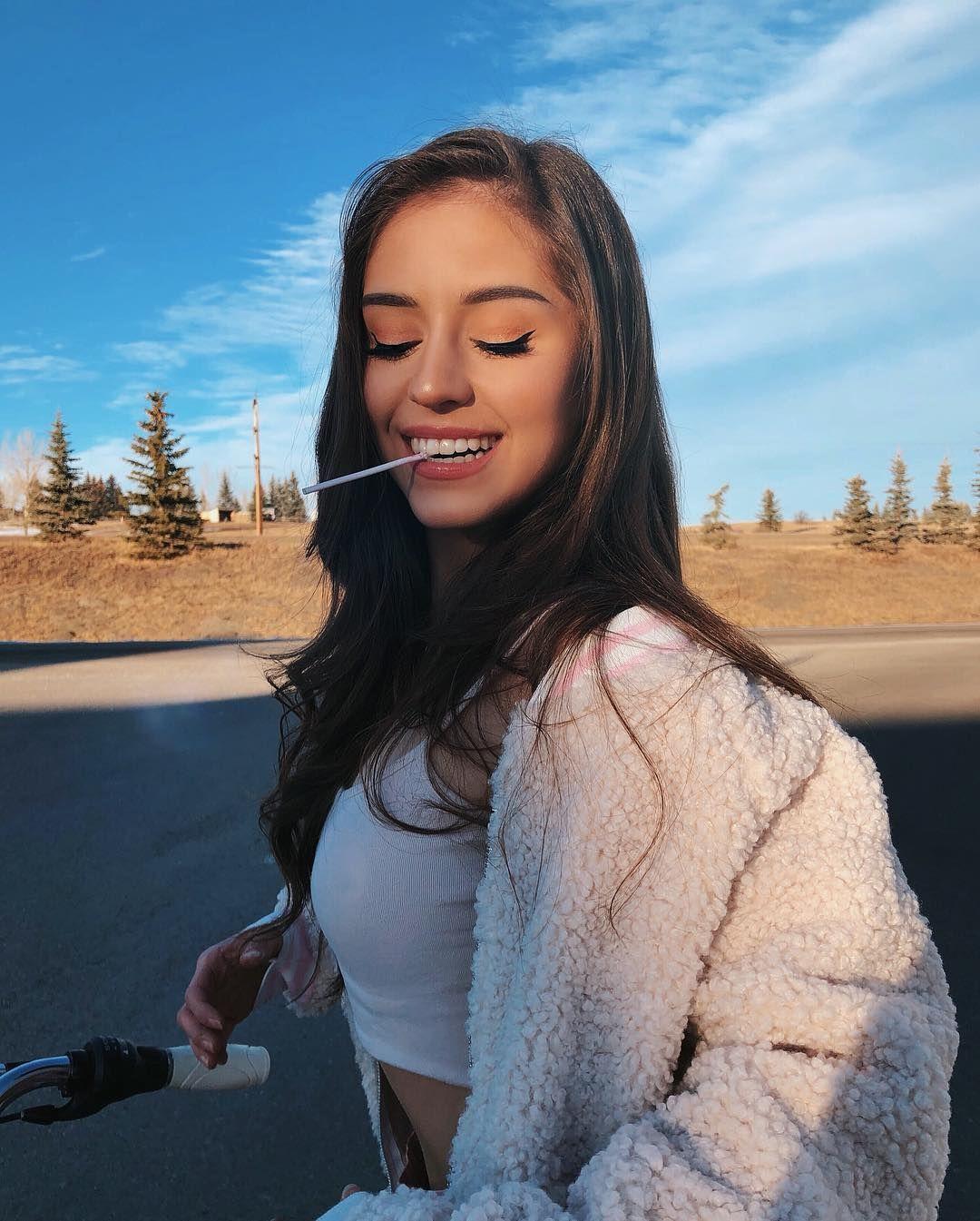 college girl removing bra