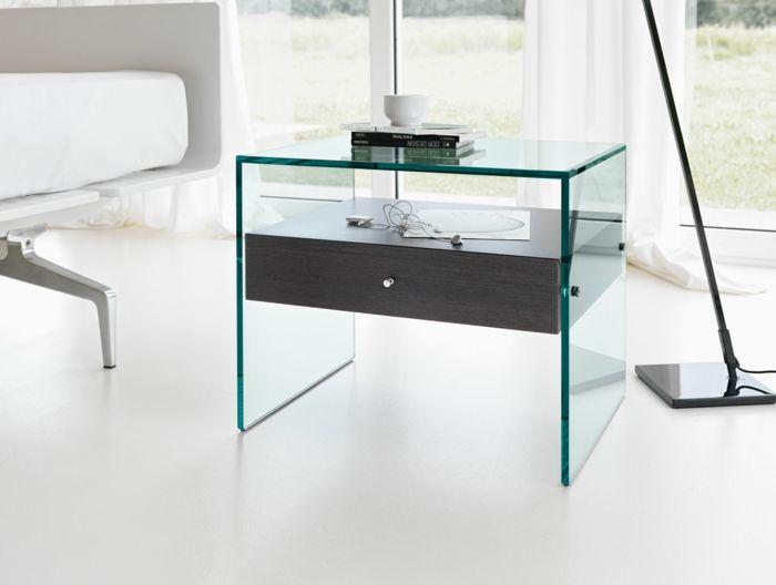 Beistelltisch Glas Macht Jedes Zimmer Schoner Beistelltisch Glas Nachttisch Design Vintage Beistelltische
