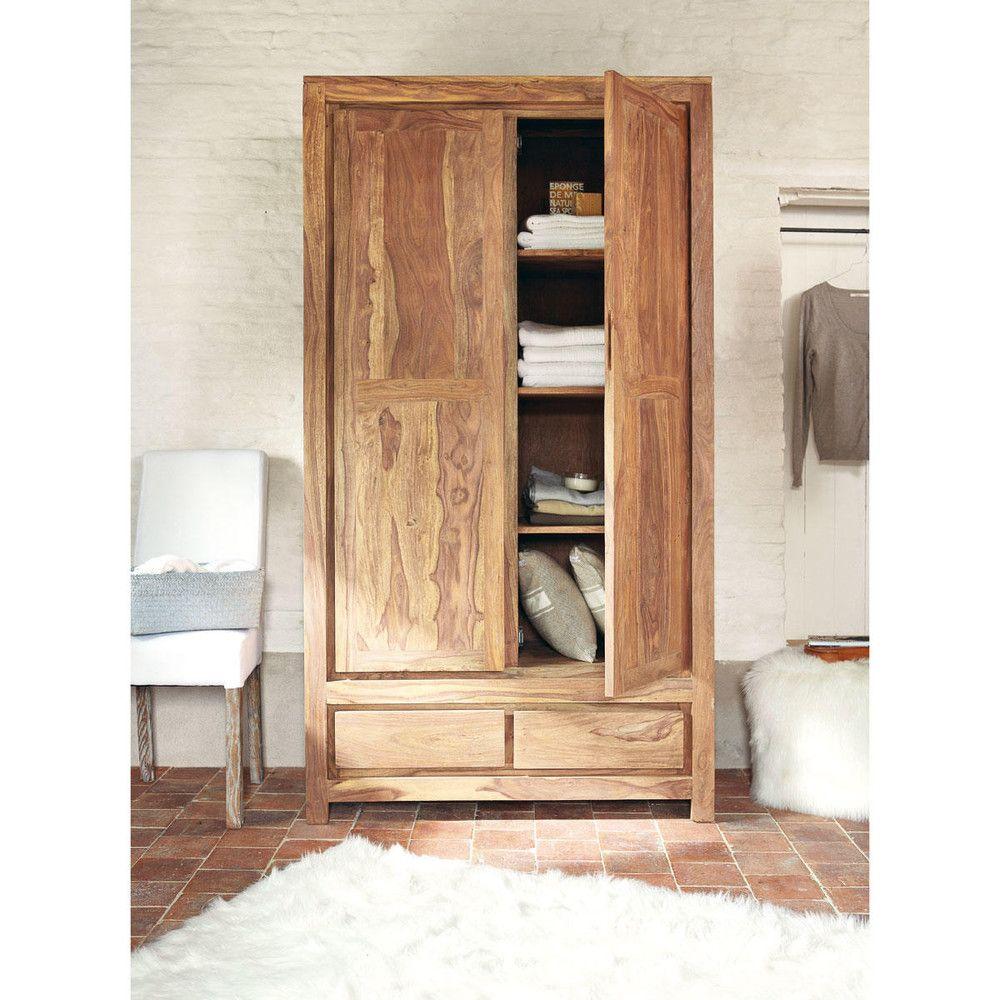 armario de madera maciza de palo rosa an cm stockholm maisons du monde