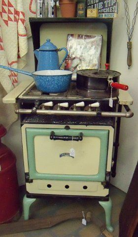 Cream U0026 Green #Orion Apartment Size Gas Stove, #1920u0027s