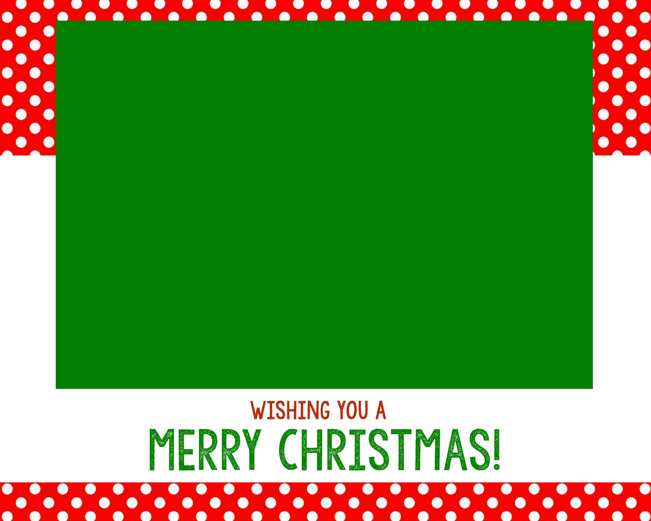 Free Christmas Card Templates Christmas card template
