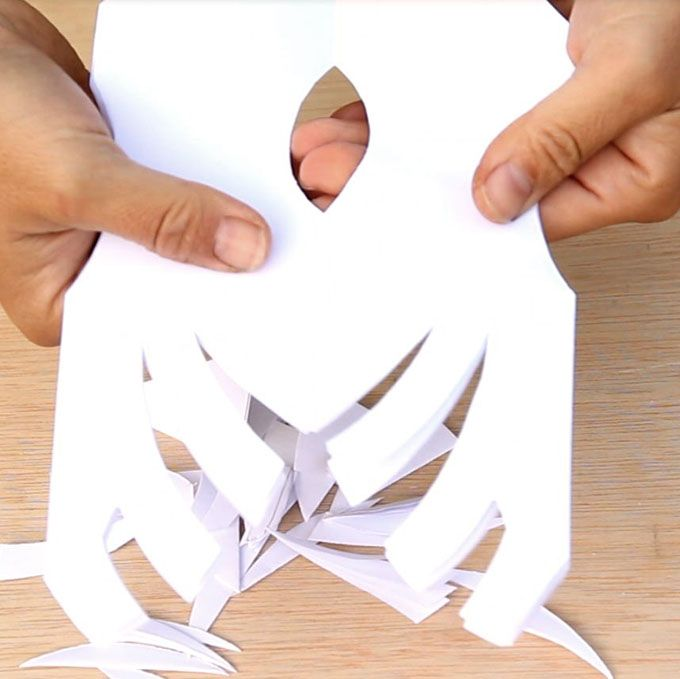 Giant 3D Paper Snowflake Pendants from Paper Bags White paper - free white paper templates