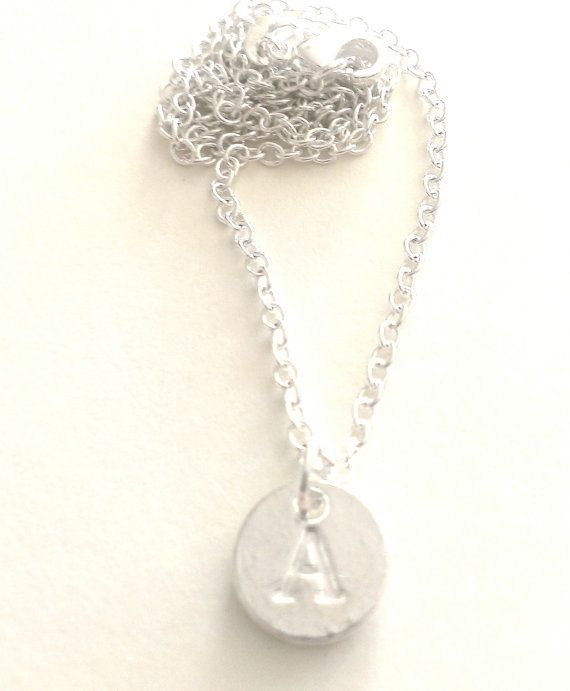 Personalised 'A' Initial Silver Plated Pendant by MysticMoonShadow
