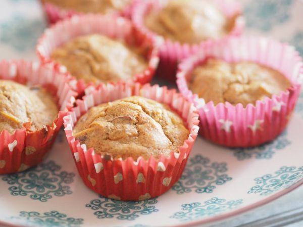 Sunde æble og gulerod muffins