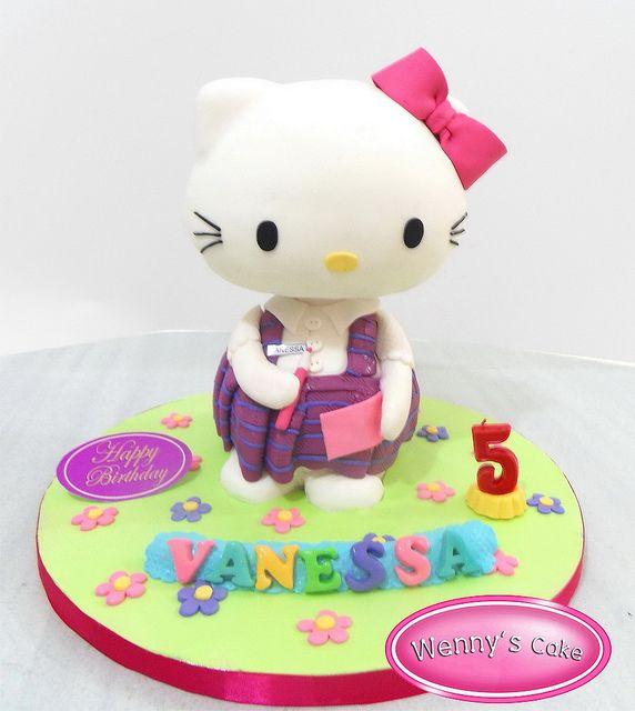 kue tart 3 dimensi birthday cakes 3D 2 3d cakes Kitty cake and Cake