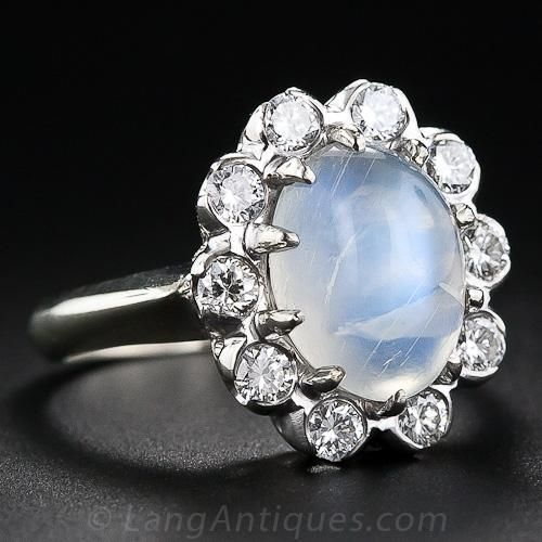 Moonstone rings are my latest jewelry addiction...
