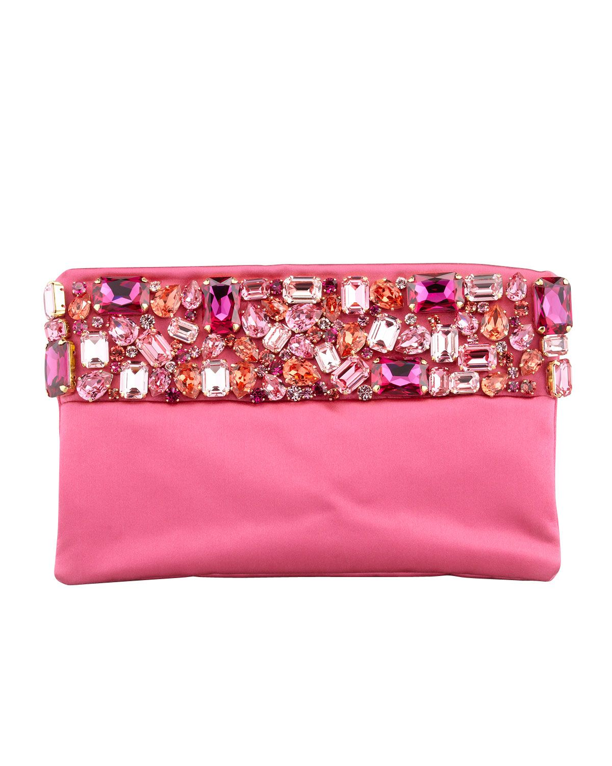 Prada Raso Jeweled Pochette Bag