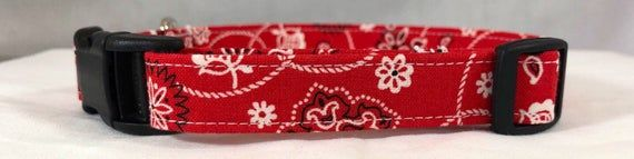 Ready to Rodeo Red Bandana Country and Weatern Bow Ties and Collars for Dogs, Free ship USA.