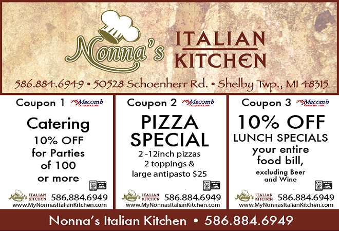 Nonna S Italian Kitchen Coupon Dining Lunch Specials