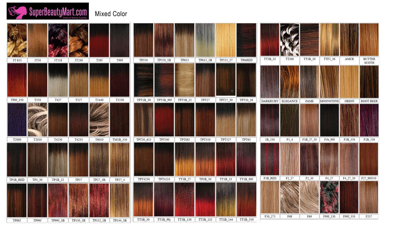 Saga Remy Hair Color Chart Makeupsite