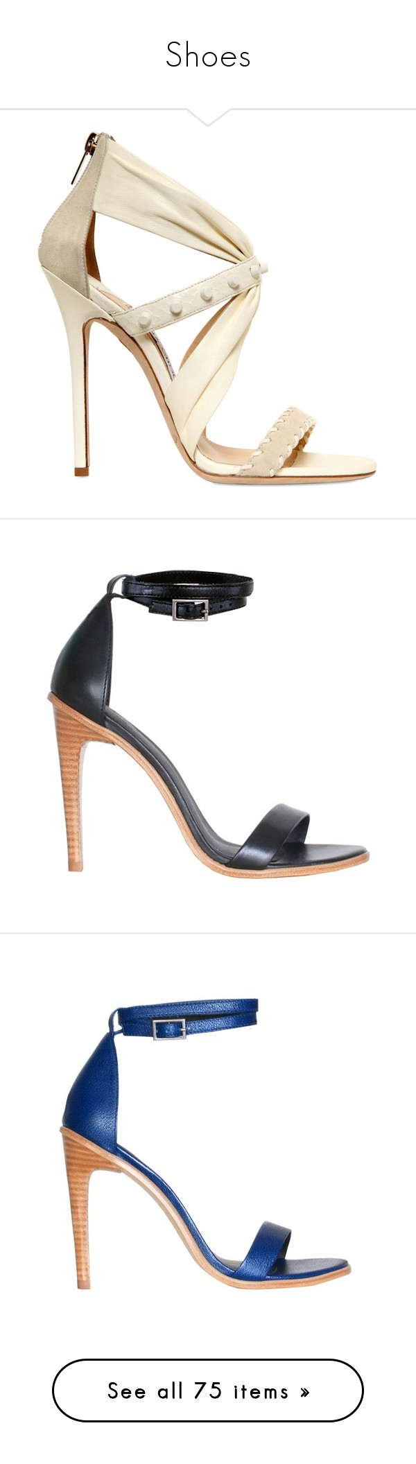 """""""Shoes"""" by lashone-kelly ❤ liked on Polyvore featuring shoes, sandals, heels, white, jimmy choo shoes, white shoes, white heeled sandals, leather high heel sandals, jimmy choo sandals and lucy hale"""