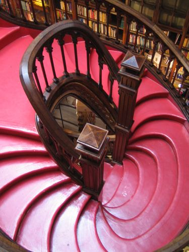 Livraria Lello, Porto. (JK Rowling's inspiration for the library in Harry Potter.) I remember it being such a struggle to get my own pictures in there.