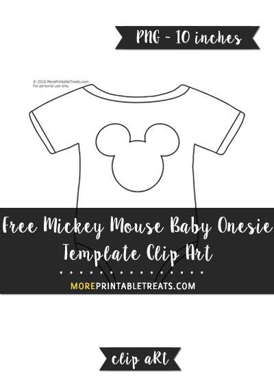 Free Mickey Mouse Baby Onesie Template  Clipart  Printables