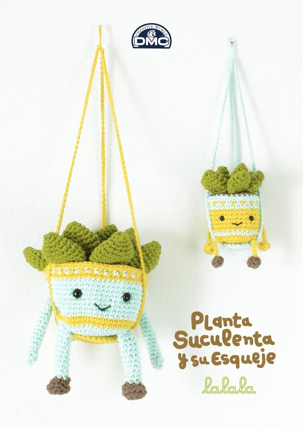 Patrón ganchillo plantas de Lalala Toys para DMC | Amigurumi, Cacti ...
