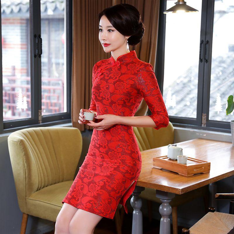 c7fcdb9d10e45 2019 的 Summer-Traditional-Chinese-Women-Simple-Dress-Plus-Size-3XL ...
