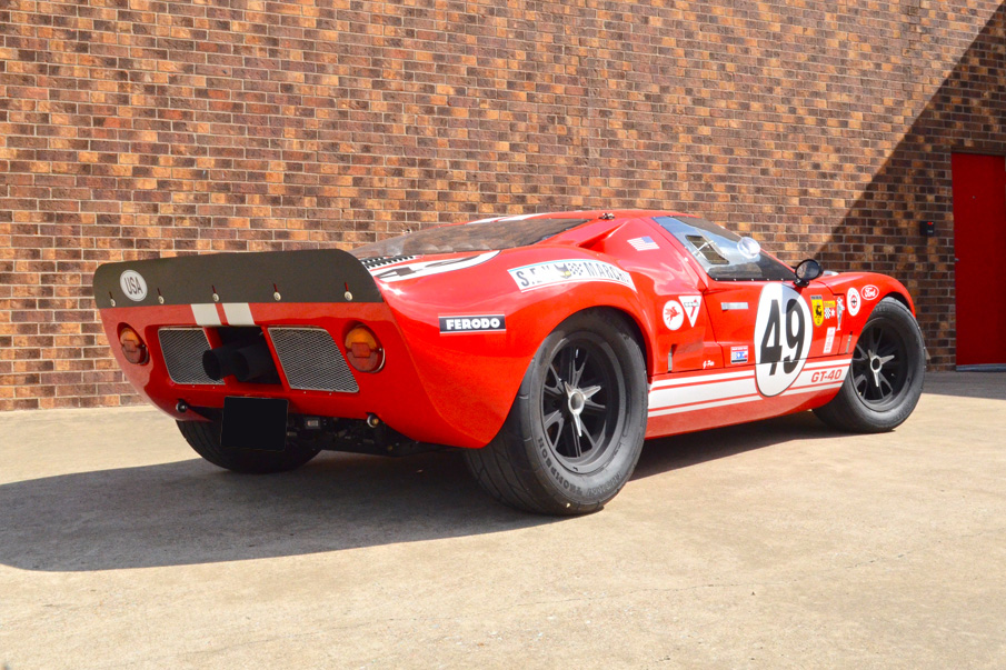 1966 Ford Gt40 Re Creation Rear 3 4 198513 Ford Gt40 Gt40