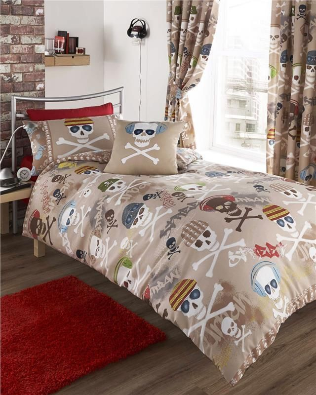 URBAN STREET BEAT SKULLS BEDDING SET - DUVET COVER SETS AND ...