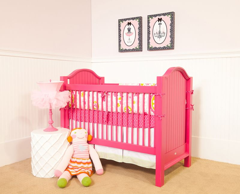 Hot pink crib! Must have this!