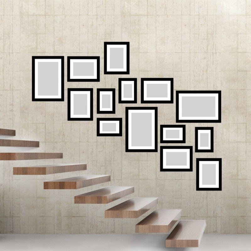 h ngung im treppenhaus tipps tricks ideen f r bilderw nde bilderw nde gestalten pinterest. Black Bedroom Furniture Sets. Home Design Ideas