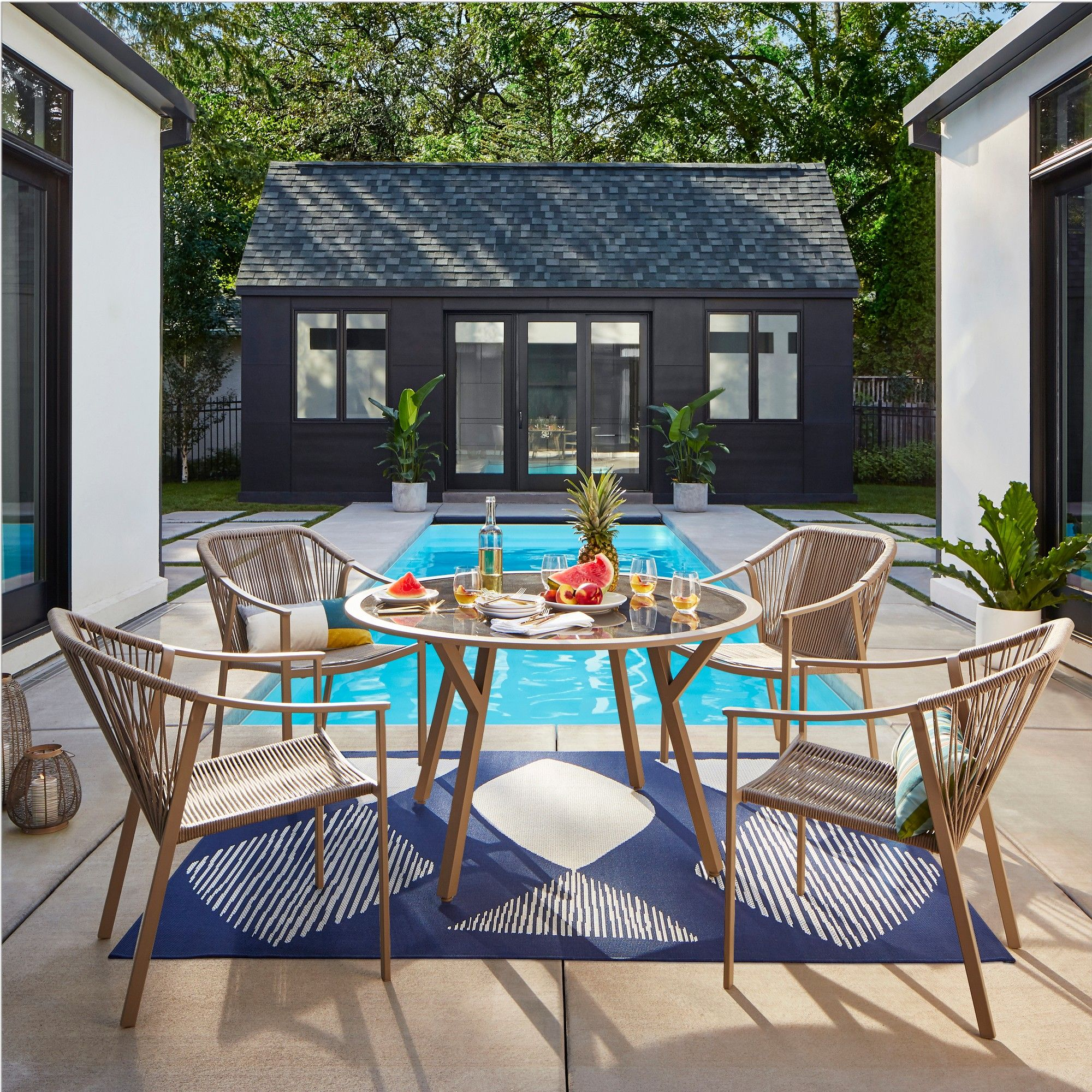 Incredible Levy 5Pc Patio Dining Set Natural Project 62 In 2019 Gmtry Best Dining Table And Chair Ideas Images Gmtryco