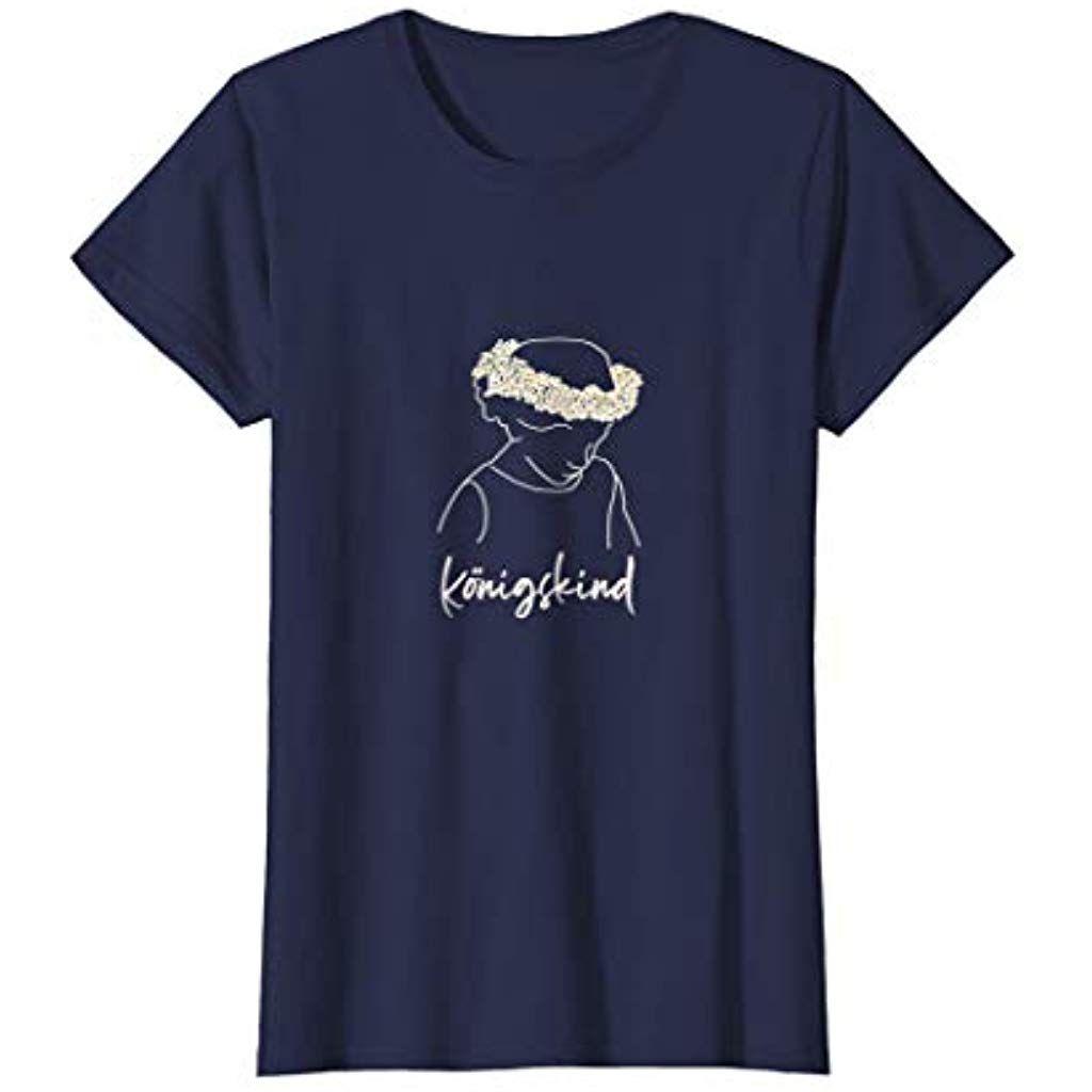 Konigskind Shirt Mit Blumenkranz Krone Jesus Tochter Christ Bekleidung Spezielle Anlasse Arbeitskleidung Arbeitskleidung Kids Shirts Shirts Crown Hairstyles