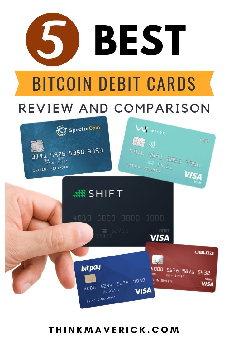 5 Best Bitcoin Debit Cards Review and Comparison