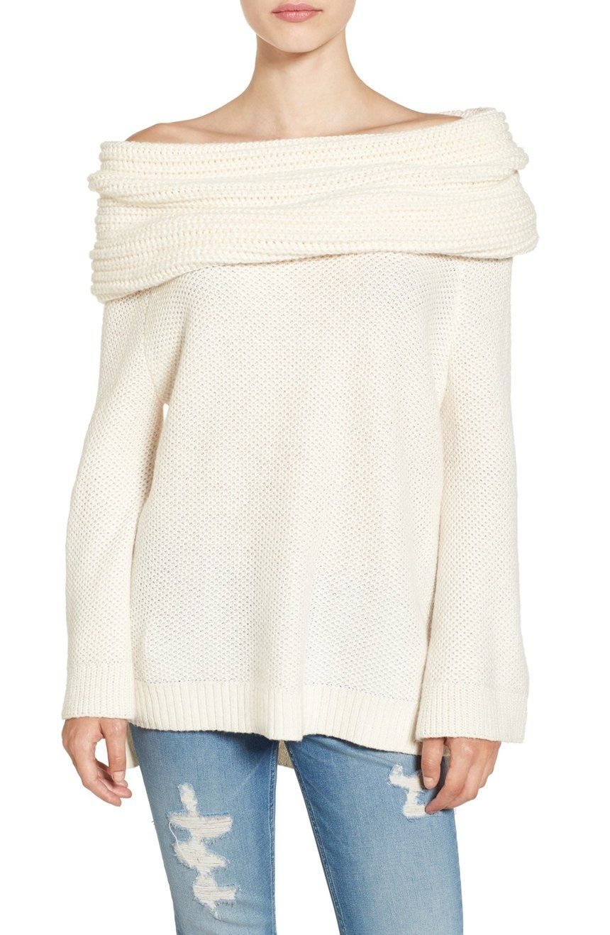 Free shipping and returns on Sun & Shadow Cowl Off the Shoulder ...