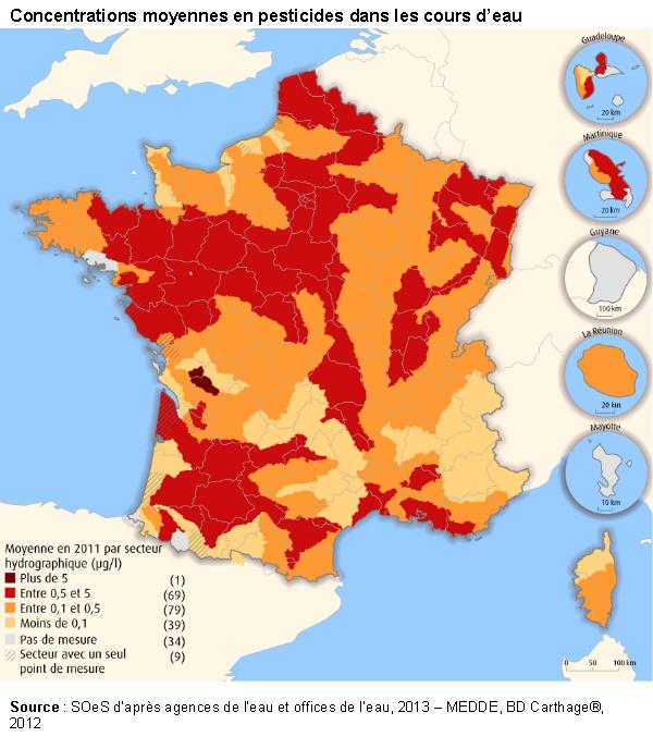 La quasi totalité des réserves d'eau françaises