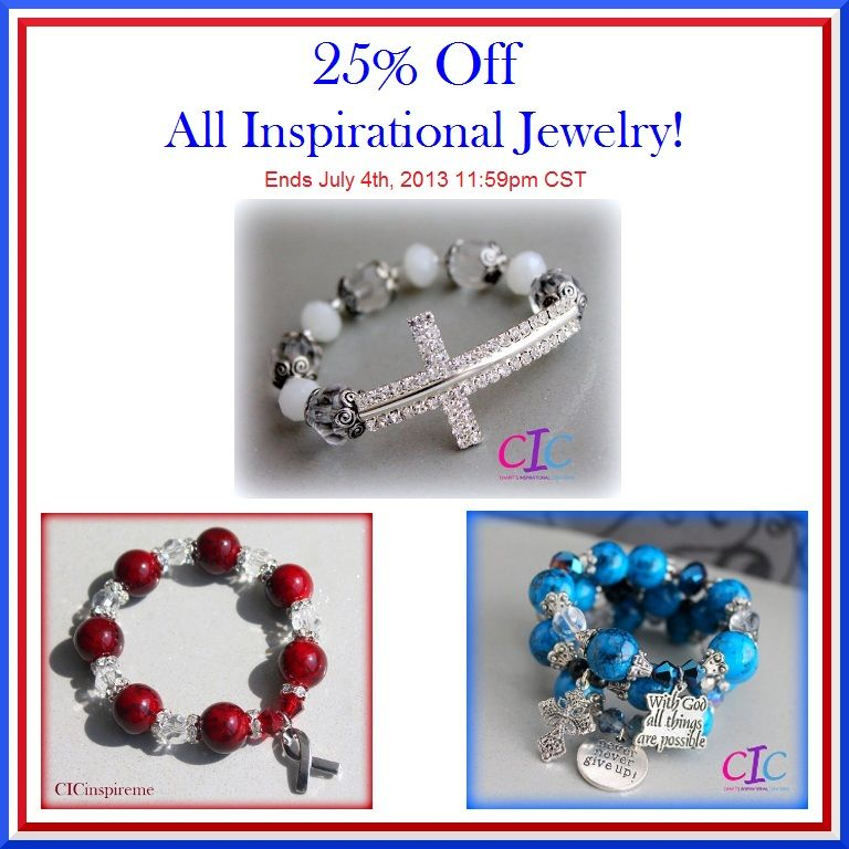 4TH OF JULY 25% Off SALE ends today! www.cicinspireme.etsy.com #4thofJuly #jewelry #Etsy