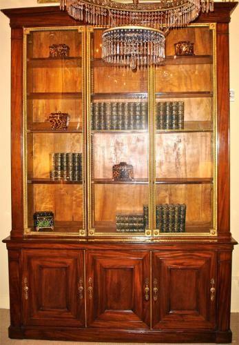 An 18th Century French Mahogany and Bronze Dore Bookcase No. 3765