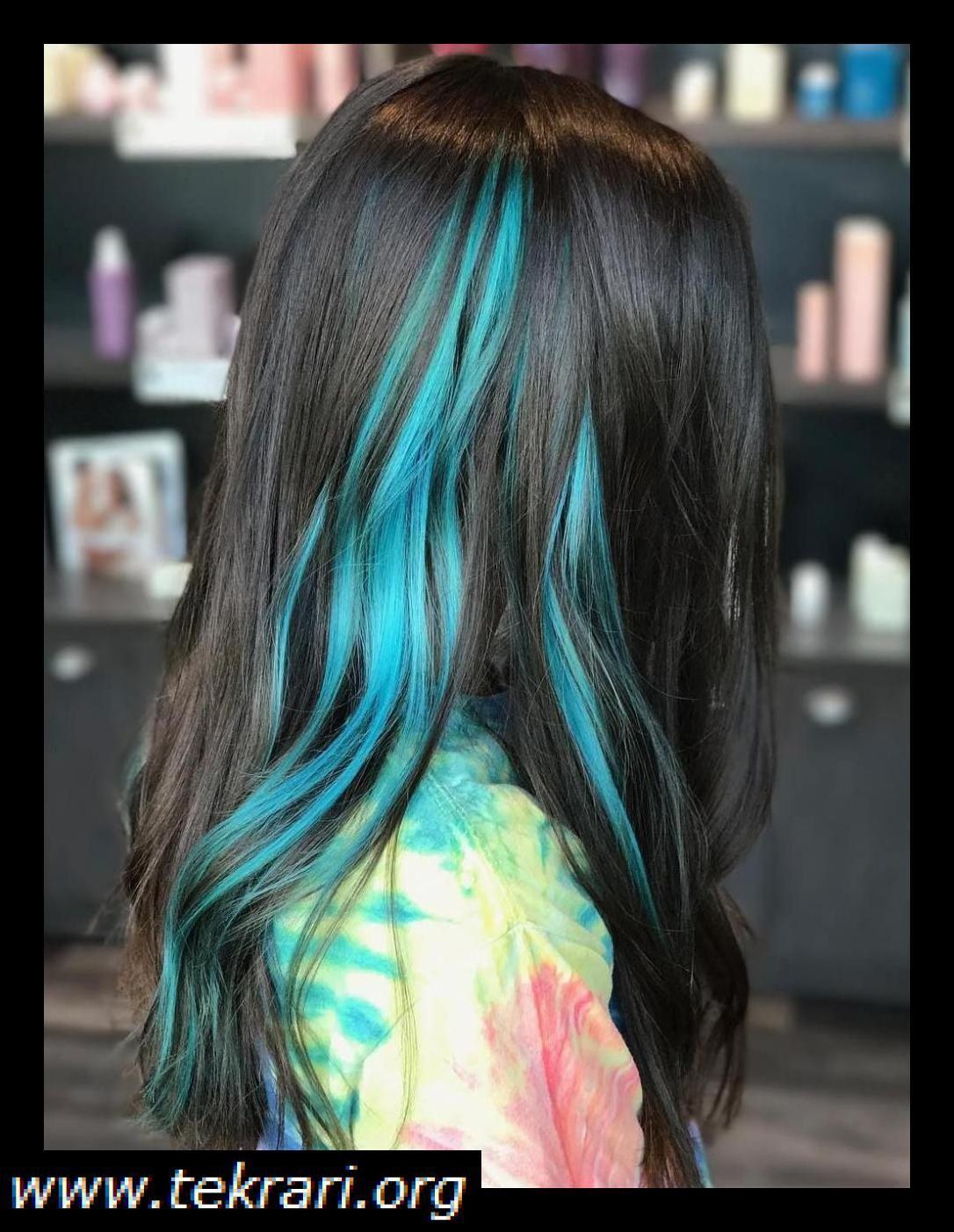 35 Captivating Peekaboo Highlights The Woman Hairstyles Blue Hair Highlights Blue Hair Color Highlights Blue Hair Streaks